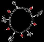 Twilight - Red Jewel Charm Bracelet