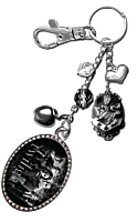 Twilight - Bella and the Cullens Image Charm Key Ring/Bag Clip