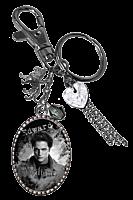 Twilight - Edward Cullen Image Charm Key Ring/Bag Clip