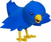 Twitter - Ollie The Twitterriffic Blue Bird 4 Vinyl Iconfactory