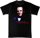 Silence of the Lambs - Hannibal Lecter Portrait Male T-Shirt