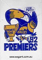 WEG - West Coast 1992 AFL Card Set