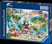 Disney - Disney's World Map 1000 Piece Jigsaw Puzzle