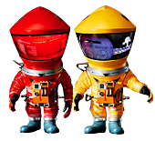 "2001: A Space Odyssey - Astronaut Red & Yellow Defo-Real 6"" Vinyl Figure 2-Pack"