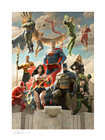Justice League - The Justice League: Classic Variant Fine Art Print by Paolo Rivera