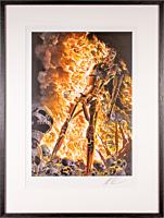 The Terminator - Terminator: The Burning Earth Art Print by Alex Ross (Framed Black on White)