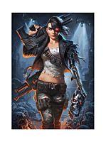 The Terminator - Rebel Terminator Mythos Premium Art Print by Alex Pascenko (RS)