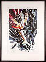 Thor - Thor: Shattered Premium Art Print by Alex Ross (Framed Black on White)
