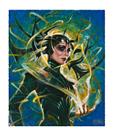 Thor 3: Ragnarok - Hela: Goddess of Death Premium Art Print by Olivia De Barardinis