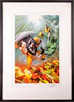 X-Men - The Death of Wolverine Art Print by Alex Ross (Framed Black on White)