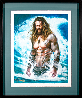 Aquaman (2018) - Permission to Come Aboard Fine Art Print by Olivia De Berardinis (Framed Art Print)