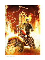 Ghost Rider - Ghost Rider Fine Art Print by Brian Rood