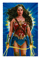 Wonder Woman - Wonder Woman: Lasso of Truth Fine Art Print by Olivia De Berardinis