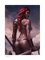 Red Sonja - Red Sonja: Birth of the She-Devil Pre-Battle Variant Fine Art Print by Jeehyung Lee
