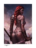 Red Sonja - Red Sonja: Birth of the She-Devil Post-Battle Variant Fine Art Print by Jeehyung Lee