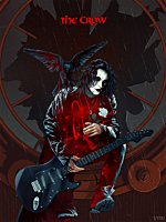 The Crow - The Crow: Real Love is Forever Fine Art Print by Kevin Tong