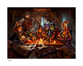 Critical Role - The Mighty Nein: This is How We Roll! Fine Art Print by Ian MacDonald