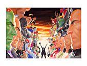 DC Comics - Absolute Justice: Battle Fine Art Print by Alex Ross
