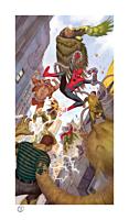 Spider-Man - Spider-Man vs Sinister Six Fine Art Print by Julian Totino Tedesco