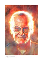 Stan Lee - Legends: Stan Lee Fine Art Print by Bill Sienkiewicz