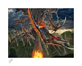 Dinosaurs - Eruption Fine Art Print Vincent Hie