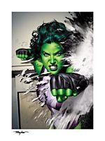 She-Hulk - She-Hulk Fine Art Print by Mike Mayhew