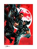 Blade - Wolverine vs Blade Fine Art Print by Dave Wilkins