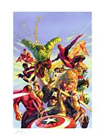 The Avengers - Secret Wars Fine Art Print by Alex Ross