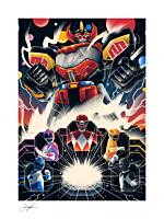 Power Rangers - Mighty Morphin Power Rangers! Fine Art Print by Arno Kiss