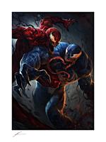 Spider-Man - Venom vs Carnage Fine Art Print by Richard Luong