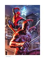 Spider-Man - Daredevil & Spider-Man Fine Art Print by Felipe Massafera