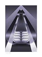 Batman - Batmobile: Batman: The Animated Series Fine Art Print by Fabled Creative
