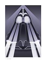 Batman - Batmobile: Classic TV Series Fine Art Print by Fabled Creative