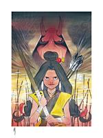 X-Men - Demon Days: Moonstar & Red Hulk Fine Art Print by Peach Momoko