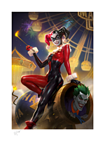 Batman - Harley Quinn & The Joker Fine Art Print by Heonhwa Choe