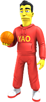 """The Simpsons - 25th Anniversary - Yao Ming 5"""" Action Figure"""