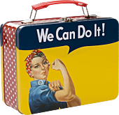Smithsonian - Rosie the Riveter Large Tin Tote Lunch Box