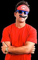 Super Mario - Mario Mustache Sun-Staches Sunglasses (One Size)