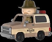 Stranger Things - Hopper in Sheriff Deputy Truck Dorbz Ridez Vinyl Figure by Funko