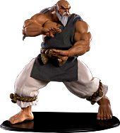 Street Fighter - Gouken Mixed Media 1/4 Scale Statue