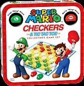 Super Mario - Checkers & Tic-Tac-Toe Collector's Game Set