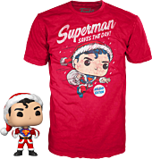 Superman - Superman Holiday Flocked Pop! Vinyl Figure & T-Shirt Box Set