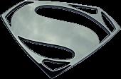 Superman Black Chrome Premium Emblem