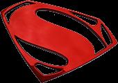 Superman Red Chrome Premium Emblem