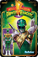 """Mighty Morphin' Power Rangers - Green Ranger Battle Damaged ReAction 3.75"""" Action Figure (2021 SDCC Exclusive)"""