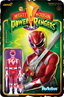 """Mighty Morphin' Power Rangers - Red Ranger Battle Damaged ReAction 3.75"""" Action Figure (2021 SDCC Exclusive)"""