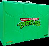 "Teenage Mutant Ninja Turtles (1987) - ReAction Carry Case with Metallic Michelangelo ReAction 3.75"" Action Figure (2021 SDCC Exclusive)"