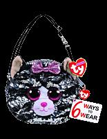 Beanie Boos - Kiki the Grey Cat Flippable Handbag