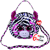 "Beanie Boos - Zoey the Zebra 8"" Flippable Handbag"