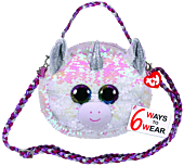 Beanie Boos - Diamond the Unicorn Flippable Handbag